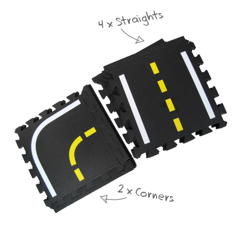Puzzle Verkehrs-Spielmatte Erweiterungsset/ 6 Teile (30 x 30 x 1,2 cm)