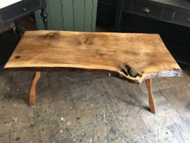Salontafel boomstam, boomstamtafel, vintage houten tafel