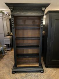 Antieke, Mechelse boekenkast. Brocante open kast