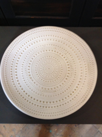 Schaal Ibiza white touch of gold 45cm.