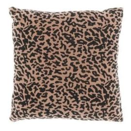 Kussen Leopard Roze 45x45