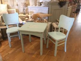 2 vintage stoeltjes met tafeltje, boho, Ibiza