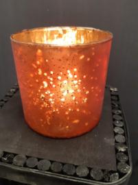 Waxineglas warm oranje