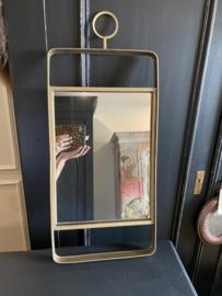 Spiegel metaal goud 30,5x71