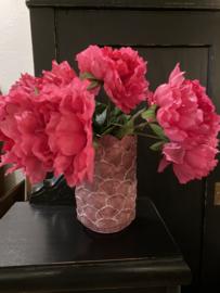 Vrolijke vaas, roze bloempot