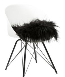 Dyreskinn Chairpad IJslands schapenvachtje zwart