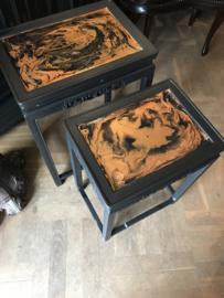 Set tafeltjes Chinese stijl vintage bijzettafeltjes