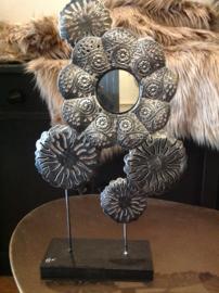 Spiegeltje, decoratie zwart zilver