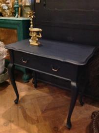Vintage haltafel, QA tafeltje met lade
