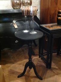 Vintage  wijntafel, zwart tafeltje