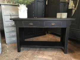 Vintage sidetable oosterse stijl, wandtafel, tv-meubel