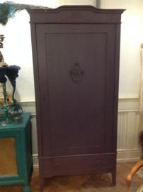Vintage 1 deurskast, brocante kast