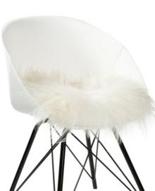 Dyreskinn Chairpad IJslands schapenvachtje wit