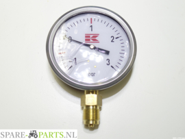 "KR0050035 Pressure Gauge 1/2"" 100mm + glyc."