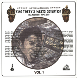Jah Thomas Presents King Tubby meets Scientist - In A Midnight Rock Dub LP