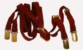 Oxblood red braces / burgunderrote Hosenträger