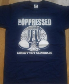 Oppressed, The - Cardiff City Skinheads T-Shirt  (navy blue)