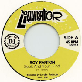 Roy Panton - Seek And You'll Find / Cherita 7""