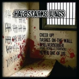 Halbstarke Jungs  / The Warriors - split LP (2nd press, blue vinyl)