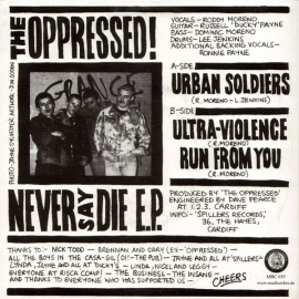 Oppressed, The - Never Say Die EP