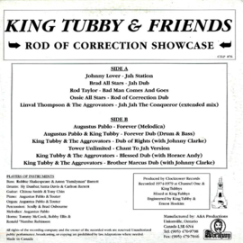 King Tubby & Friends - Rod Of Correction Showcase LP