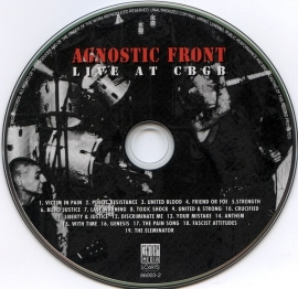Agnostic Front - Live At CBGB CD