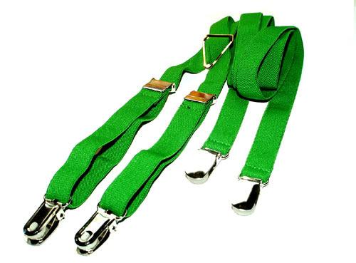 Green braces / grüne Hosenträger