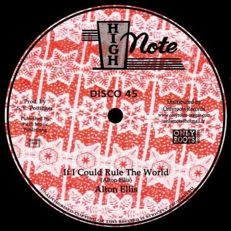 "Alton Ellis / The Soul Syndicate - If I Could Rule The World / Lava 12"""