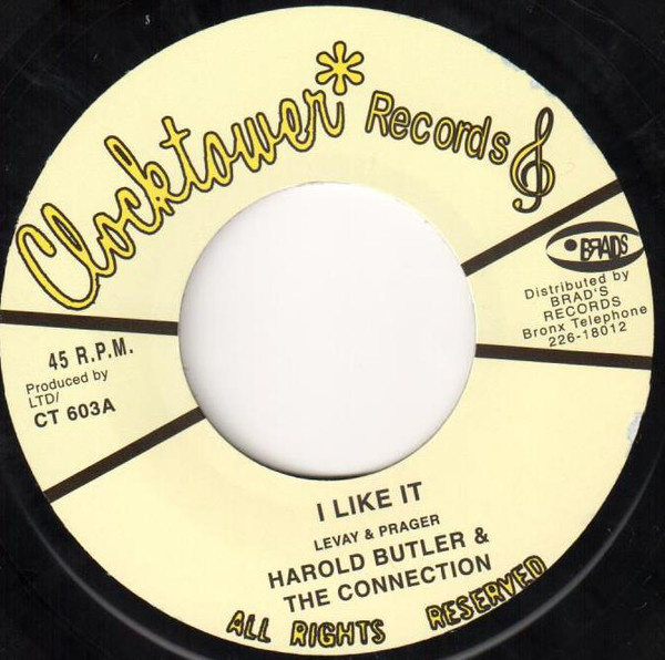 """Harold Butler & The Connection - I Like It 7"""""""