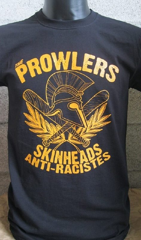 The Prowlers - Skinhead AntiRaciste (black) Shirt (XXL only)