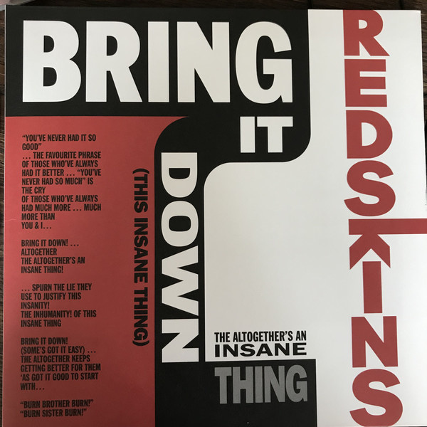 """Redskins - Bring It Down (This Insane Thing) 10"""""""