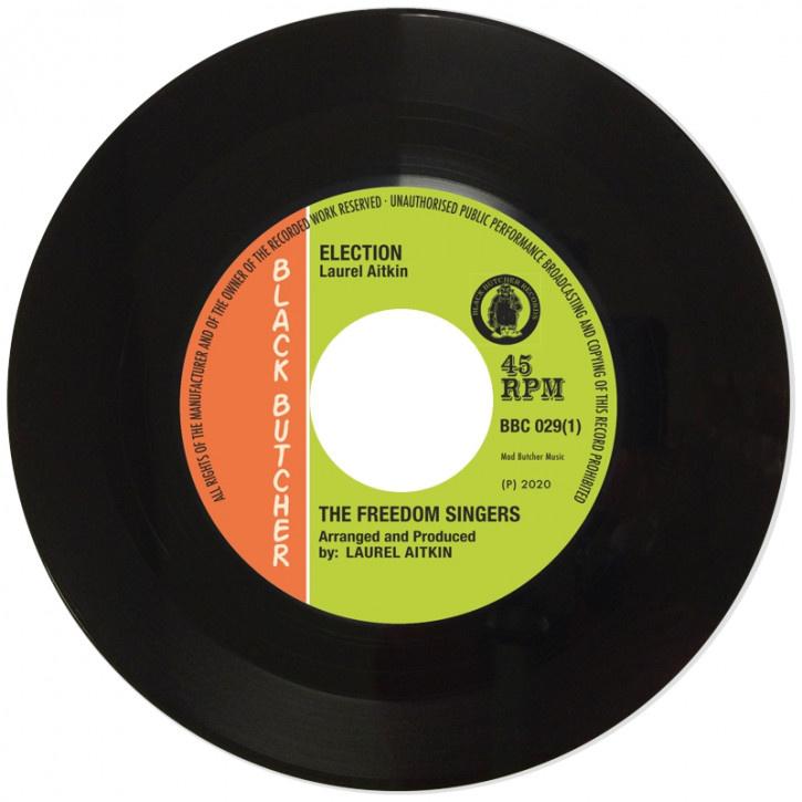"The Freedom Singers / Flece & The Live Shocks - Election / Tomorrow's World 7"""