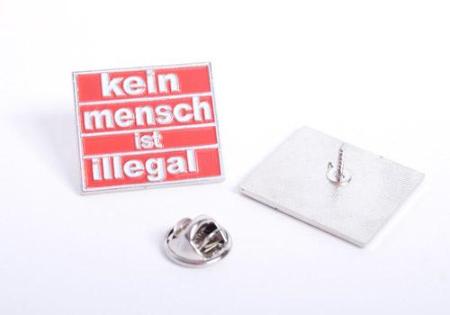 Kein Mensch Ist Illegal (red) - metalpin