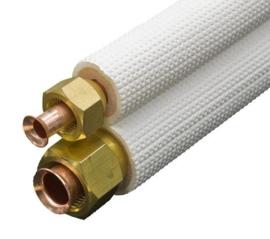 1/4''-3/8'' dubbel gefairde leiding plus isolatie per meter.