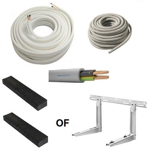 Airco installatie set keuze van 3 tot 17 meter 1/4''-3/8'' (1,5 t/m 3,5kW)