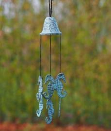 Bronzen windgong met zeepaardjes