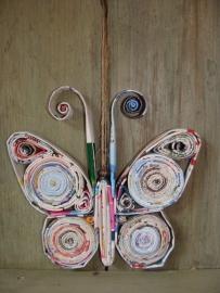 Vlinder van gerecycled papier