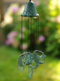 Windgong brons met maantjes