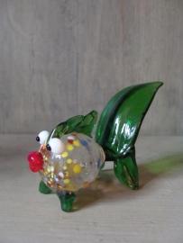 Visje van glas groen