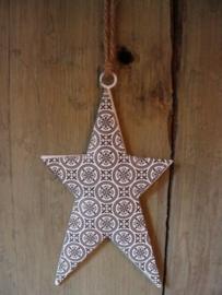 Kersthanger ster van ijzer