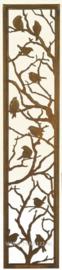 Tuinscherm met vogeltjes in boom