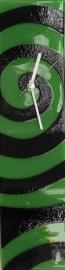 Carneol Design glasklok Swirls green-black