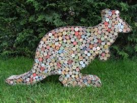 Kangoeroe van gerecycled papier