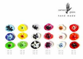 Carneol glas bloem groot