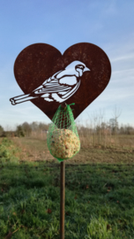 Vogelvoeder tuinsteker mezenhart -A-