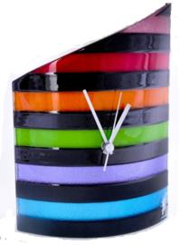 Carneol klok rainbow 21x26