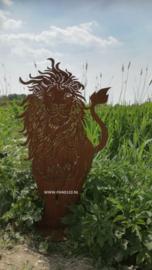 Leeuw op plaat