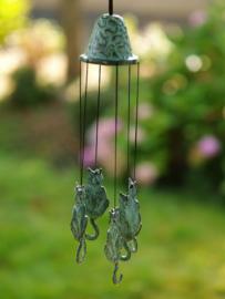 Windgong brons met poesjes