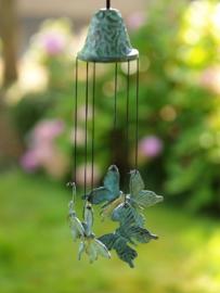 Windgong brons met vlinders