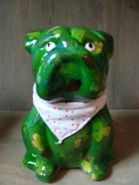 Pomme-pidou bulldog groen met lieveheersbeestjes